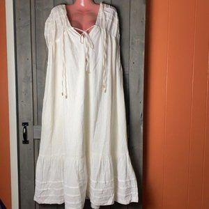 Free People Ivory Oversized Maxi Dress NWT